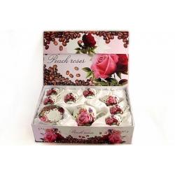 Чайный набор из 14 предметов на 6 персон «Розы и кофе»