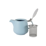Чайник с ситечком Оттенки (белый) в индивидуальной упаковке