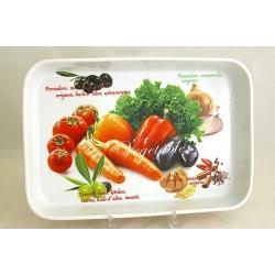 Блюдо прямоугольное (большое) «Овощное ассорти» 35;х24 см