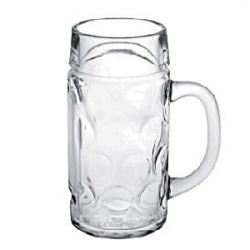 Кружка пивная «Дон»; стекло; 630мл; D=80/80,H=162,B=125мм; прозр.