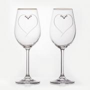 Набор бокалов 350 мл. 2 шт «Сердце»