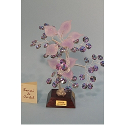 Бонсай с хризантемой лиловый, 22см.