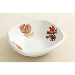 Салатник квадратный «Овощное ассорти» 18х18 см
