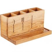 Органайзер для столов. приборов (4 секции) дуб; охра