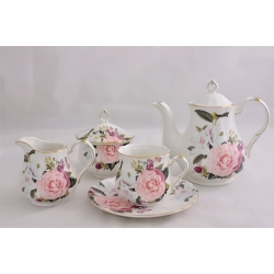 Чайный сервиз из 15 предметов на 6 персон «Летний букет»