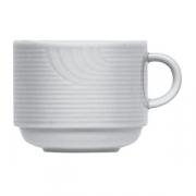 Чашка чайная «Карат», фарфор, 250мл, D=80,H=70,L=105мм, белый