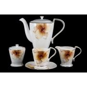 Сервиз чайный 17пр. на 6 персон «Бежевая лилия»