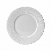 Тарелка с широк.краями «Оптик», фарфор, D=25.5см, белый