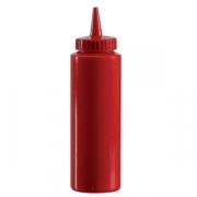 Емкость для соусов, пластик, 700мл, D=65,H=240мм, красный