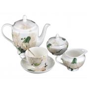 Сервиз чайный 6 перс 21 пр Цветущий каштан