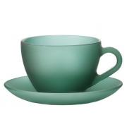 Пара чайная 235 мл зеленая мат.