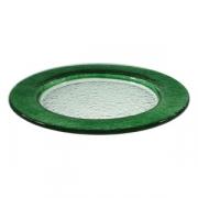 Тарелка мелк «Бэнд» d=26см т.-зеленая