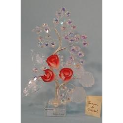Бонсай с розами красный 24см