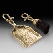 Совок с щеткой для камина «рында»