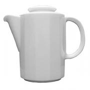 Кофейник «Меркури», фарфор, 350мл, D=75,H=120,L=135мм, белый