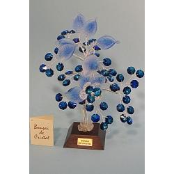 Бонсай с хризантемой синий, 22см.