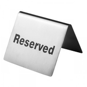Табличка «Резерв», сталь нерж., H=40,L=65,B=50мм, металлич.
