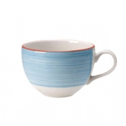 Чашка кофейная «Рио Блю», фарфор, 85мл, белый,синий