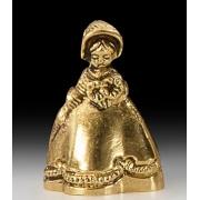 Колокольчик - дама цвет - золото 7х5см