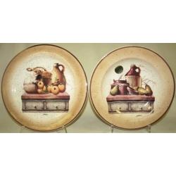 Набор тарелок «Кухня» Суповая -25 см, обеденная- 25 см
