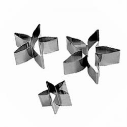 Набор форм для конд. изд. «Роза» 3шт., нерж