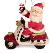 Подвеска 8,9 см Дед Мороз на скутере