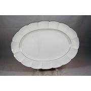 Овальное блюдо «Серебряный лотос»