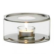Комплект для подогрева чайника, нерж.,стекло, D=114,H=55,L=114мм, прозр.,серебрян.