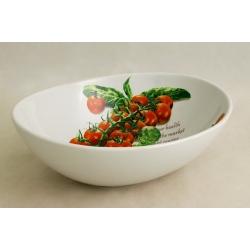 Салатник овальный (большой) «Помидоры и оливки» 30х22 см