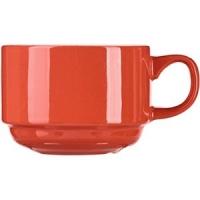 Чашка чайная «Карнавал» D=8, H=6, L=11см; кораллов.