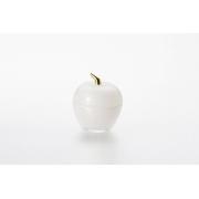 Вазочка с крышкой «Яблоко» 7,5*9 см, цвет: серебристый