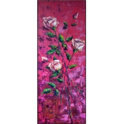 Картина без рамки «Роза авнгард» 35*100