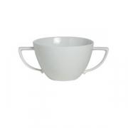 Бульонная чашка «Соната», фарфор, 340мл, белый