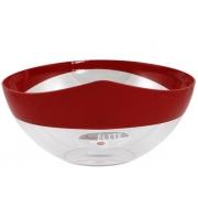 Салатник 28 см пластиковый красный