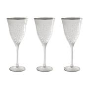 Набор: 6 хрустальных бокалов для вина Умбрия Матовая - платина
