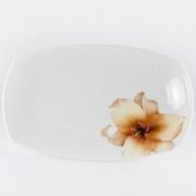 Блюдо прямоугольное 30,5см «Бежевая лилия»