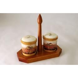 Набор для специй на деревянной подставке «Кьянти»
