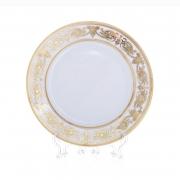 Набор тарелок «Александрия Голд/белый» 27 см. 6 шт.