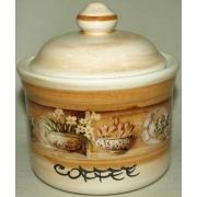Банка для сыпучих продуктов с деревянной крышкой (кофе) «Кантри» 0,5 л