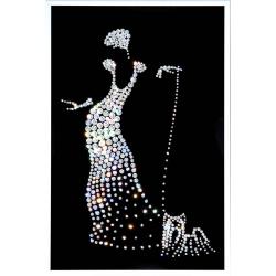 Дама с собачкой, 20-30 см, 469 кристаллов
