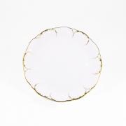 Набор 6 тарелок 17см «Белый с золотом»