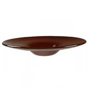 Тарелка глуб.; стекло; 200мл; D=310,H=52мм; коричнев.