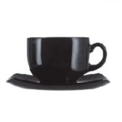 Набор чайн.пар «Квадрато» черный 220мл,6ш