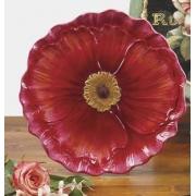 Тарелка десертная 20 см. в виде цветка «Парижские маки»