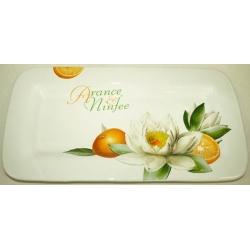 Блюдо «Апельсины и кувшинки»  23х45 см