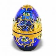 Шкатулка «Лепка синяя-Яйцо»