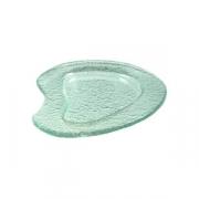 Тарелка «Амеба» 16*15см прозрач.