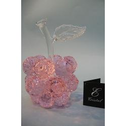 Яблоко розовое. прозрачный лист d 40 12х18 см
