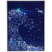 Волна малая с подсветкой,30х40 см, 956 кристаллов