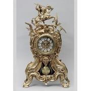 Часы «всадник и птицы» с маят. цвет - золото 46х26см